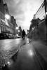 Smokin' Street (Airicsson) Tags: street urban blackandwhite bw paris analog vintage lumix bokeh smoke panasonic latin quarter symetry g3 quartier