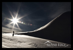 Endure (AlpineEdge) Tags: life winter light shadow sun mountain snow man ski cold ice sports nature silhouette clouds snowshoe outdoors power bright bluesky adventure human flare hiker climber endurance endure