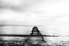 Falsterbo (Henke!) Tags: ocean longexposure blackandwhite bw water clouds skne waves horizon malm skanr falsterbo