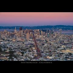 San Francisco, California (terenceleezy) Tags: sf sanfrancisco california city sunset nikon cityscape twin twinpeaks citylights neonlights sanfranciscobay peaks marketstreet citysights d700