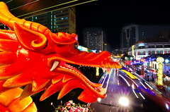 Chinatown - Chinese New Year Decoration  (Wang Guowen (gw.wang)) Tags: decorations temple nikon singapore chinatown cityscape chinesenewyear 2012 lightings flickraward  d7000 tokinaaf1116mmf28 buddhatoothrelictempleandmuseum tokinaatx116f28 blinkagain gwwang dragonyear wwwon9cloudcom mandraingallery
