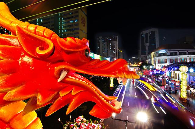Chinatown - Chinese New Year Decoration 飛龍在天
