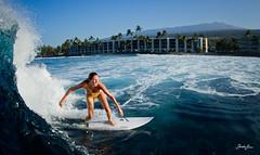 banyans (SARAΗ LEE) Tags: morning girl hawaii surf allie surfing fisheye bigisland kona hualalai shortboard kailuakona surfergirl waterhousing sarahlee banyans odina vivantvie alliebrown odinasurf