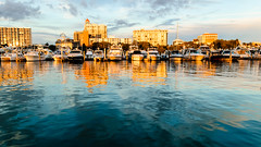 sarasota bayfront bathed in evening sun (laughlinc) Tags: sunset sky sun water skyline boats evening florida beta sarasota lightroom lr4 nikond80 1755mm28 thechallengefactory laughlinc lightroom4beta