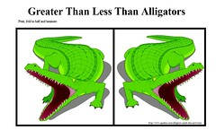 Greater Than Less Than Alligators