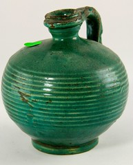 41. Smaller Antique Green Glazed Jug
