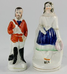 66. Two Figural Staffordshire Pieces