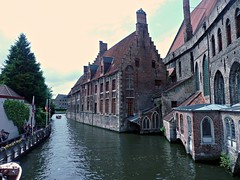 Bruges (Gem E Piper) Tags: old city wet water architecture boat canal europe cityscape famous historic belguim bruges