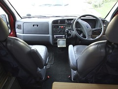 Cab with two swivelling armchairs (Mudman101) Tags: fiat motorhome ducato
