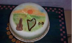 Ponque Decorado con cubierta satinada Amanecer Llanero (PaulitasArteyAzucar) Tags: tortas paulitas ponques