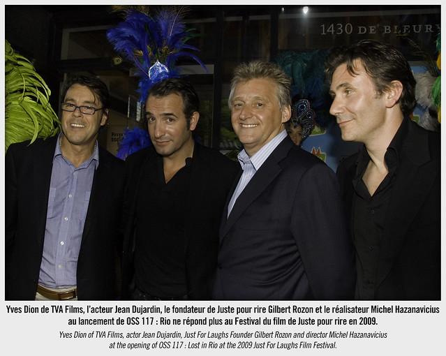 JEAN DUJARDIN et Michel Hazanavicius au Festival du film de Juste pour rire