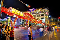 Chinatown (Kenny Teo (zoompict)) Tags: street new light cars up speed festive season yahoo google neon chinatown dragon year chinese chinesenewyear getty trial auspicious fastnfurious yearlunar 与龙共舞 yearofdragon singaporelowerpiercereservoir 龙众舞