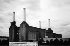 Power Station (qrand) Tags: trip bw white black olympus 35 battersea olympustrip35 powerstation