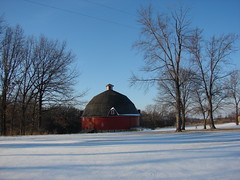 Ryan Round Barn (David Sebben) Tags: park red black barn rural illinois cattle angus ryan silo trail round kewanee nrhp johnsonsauk