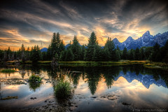 Wyoming Days End (Tom Lussier Photography) Tags: sunset usa mountain tree water clouds reflections river landscape nationalpark nikon rockymountain rockymountains wyoming grandtetonnationalpark schwabacherslanding grandtetonnationalparkwyoming tomlussier dailynaturetnc11