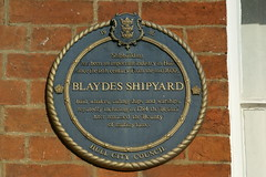 Photo of Blaydes Shipyard and Bounty blue plaque