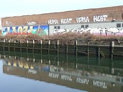 laozi and quixote and reflection (httpill) Tags: streetart art brooklyn graffiti tag graf quixote laozi httpill