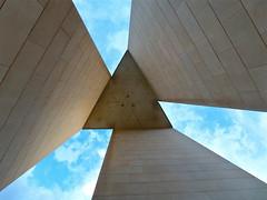 National Carillon - looking up (Kumukulanui) Tags: sunset bells island australia canberra act lakeburleygriffin aspenisland nationalcarillon