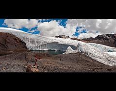 Panorama over the Imposing Pasto Ruri Glacier (Peru) (departing(YYZ)) Tags: travel panorama mountains peru southamerica landscape nikon sigma glacier andes dslr 1770 glaciar yyz departing 2011 sudamérica d90 américadelsur pastoruri huarez f2840 departingyyz