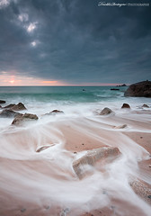 Dark sky over green sea (Descliks2bretagne PHOTOGRAPHIE) Tags: ocean longexposure sunset sea mer seascape france beach nature rock canon french brittany bretagne breizh filter paysage plage morbihan hitech rocher couchdesoleil filtre quiberon wildcoast cotesauvage poselongue nd12 450d canonefs1022mmusm portbara descliks2bretagne ledilhuitnicolas
