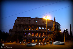 Colosseum, Rome. (Ben Cox Photography) Tags: sunset rome dusk colosseum selectivebw