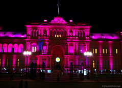 Casa Rosada (Government house), Buenos Aires, Argentina (Claudio.Ar) Tags: street house color building monument argentina night buenosaires sony government executive plazademayo dsc casarosada h9 casadegobierno abigfave claudioar claudiomufarrege