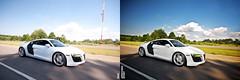 Power of RAW (Tasslehoff Burrfoot) Tags: car clouds photoshop aperture raw retouch audir8 rollingshot ecstuning ecstuningworks
