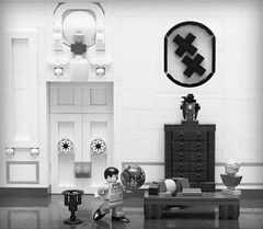 The Great Dictator (Brainbikerider) Tags: world movie dance globe lego great charlie dictator chaplin moc hynkel foitsop