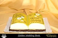 Golden Wedding Book (Pyranha Photography | 1250k views - THX) Tags: flowers wedding cake canon buch photogr
