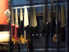 Hail The Cutter (the justified sinner) Tags: turkey restaurant 1 dundee knife knives turkish perthroad justifiedsinner voigtlndervoigtlandernokton111 1panasonicg1 voigtlndervoigtlandernokton50mm111