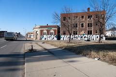 msk neskst chaos (ExcuseMySarcasm) Tags: streetart bus graffiti chaos unitedstates michigan detroit msk grandriver abandonment nekst guerrillaart excusemysarcasm