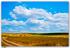The sky field (Ozzy152) Tags: life summer sky tractor green art field yellow clouds landscape fantastic corn nikon village image turkiye sunny arpa harvester anatolia baak gkyz manzara the tarla weat orum traktr hasat buday bierdver mahsl