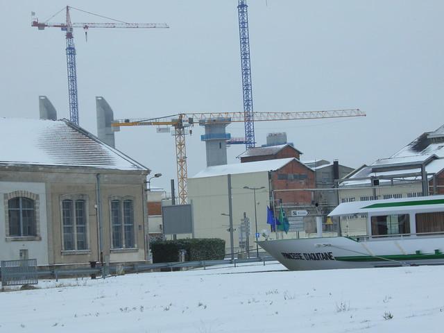 Princesse d'Aquitaine - Pont Bacalan-Bastide - Bordeaux sous la neige - 05 février 2012