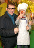 Nick Munier & Swedish Chef Eric Sexton pictured at the Irish Premiere of Disney's 'The Muppets' in the Savoy cinema Dublin. Photo: Anthony Woods