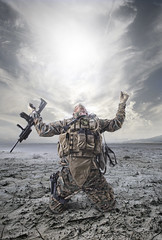 War is hell... (Geir Akselsen) Tags: soldier army war military hell marines why m4 platoon