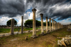 Ephesus Agora, Turkey (Nejdet Duzen) Tags: trip travel cloud history turkey trkiye ruin agora ephesus izmir seluk efes harabe bulut turkei seyahat tarih mygearandme
