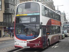 0918 SN08 BYL Lothian Buses 50-50 Volvo B9TL Wright Gemini on the 3 to Cloverstone (North East Malarkey) Tags: nebuses lothianbuses lbuses lrtedinburgh transportforedinburgh buses buspictures transport edinburgh flickr buspics vehicle outdoor explore inexplore google googleimages