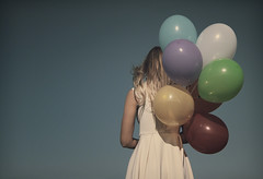 balloons (Jon Downs) Tags: blue red color colour green art colors yellow canon vintage hair balloons downs photography eos photo model jon artist colours photographer purple image balloon creative cream picture pic retro faded photograph 7d blonde fade raphaella withlove jondowns