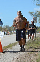 SPARTAN 22 (U.S. Army Garrison - Miami) Tags: park race swimming jumping wire state florida miami south saturday running southern climbing april warrior fitness 12th sprint crawling barbed obstacle command fiu garrison spartan sweating dade southcom oleta imcom fmwr