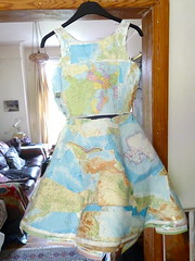 travelling dress (alev.adil) Tags: collage lost dress map journey cartography atlas itinerary drift mapdress