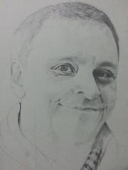 DeGiovanni1_2013 (Annali') Tags: portrait blackwhite drawing workinprogress writer degiovanni