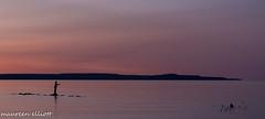 Hip-Waders Needed (maureen.elliott) Tags: pink sunset water silhouette evening fishing fisherman georgianbay owensound