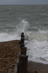 Hayling Winter (Olivia Darby) Tags: sea water haylingisland wave solent groyne breaking