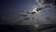 Midnight Lights (Sanjiban2011) Tags: nightphotography sea india seascape nature night clouds nikon nightscape outdoor fullmoon d750 moonlight nightsky fullframe fx tamron cloudscape andaman tamron2470 moonrays havelokeisland
