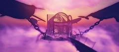 ABOVE THE CLOUDS. (WHOLE WHEAT Landscapes) Tags: life bridge sunset sky cloud sun statue set clouds sunrise landscape photography photo chains landscaping wheat toast chain whole fantasy secondlife second whale mystical screaming gazeebo mystic