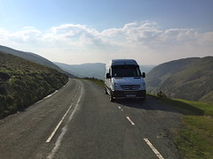 Mercedes Sprinter (Paul.Bevan) Tags: road man mountains grass outdoors mercedes benz view photos random cab bluesky cargo hills delivery dodge express freight beautifulview bala myview verge whitevan merc panelvan greengrass scenicroute sprinter layby lwb snowdonianationalpark sameday spedition welshcountryside vanman b4391 bd58exm sightsoutontheroad