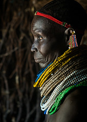 Nyangatom tribe woman with piles of beads, Omo valley, Kangate, Ethiopia (Eric Lafforgue) Tags: africa people color face vertical outdoors necklace women day adult african decoration jewelry tribal indoors pile blackpeople bead omovalley earrings tradition ethiopia tribe ethnic cultural oneperson jewel developingcountry ethnicity hornofafrica ethiopian eastafrica abyssinia traditionalclothing realpeople blackskin beadednecklace bume onewomanonly 1people indigenousculture africanculture ethnicgroup bodyadornment nyangatom kangate blackethnicity ethiopianethnicity kangatan ngakaaly ethio161689