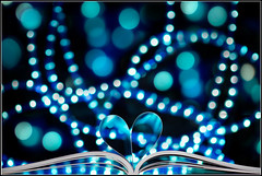 Bokeh   Love (SFB579 Namaste) Tags: blue light white blur love photoshop silver lights book nikon heart image bokeh outoffocus sharp led full page frame round fullframe processed oof d610