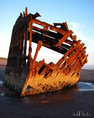 IMG_20160518_223539 (IMHPhotos) Tags: sunset oregon boats ship outdoor shipwreck beaches washed ashore deteriorating