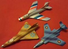 CRAGSTAN WILD WINGS DASSAULT MYSTRE B2, MIRAGE IIIR and BLACKBURN S.2 BUCCANEER (NyamalaTone) Tags: vintage airplane toy collectible flugzeug jouet avion juguete